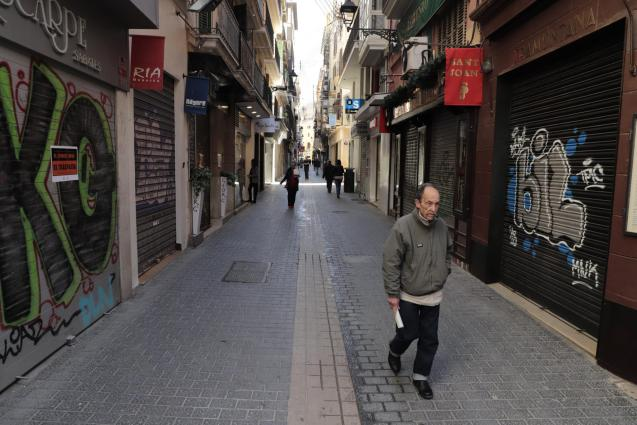 Shops in centre of Palma closed
