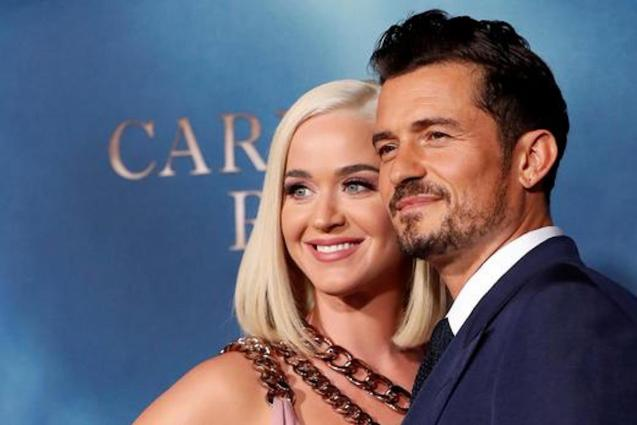 Katy Perry & Orlando Bloom at the premiere for 'Carnival Row'.