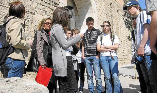 Thousands of students from France, Germany and Italy visit Majorca between March and June.