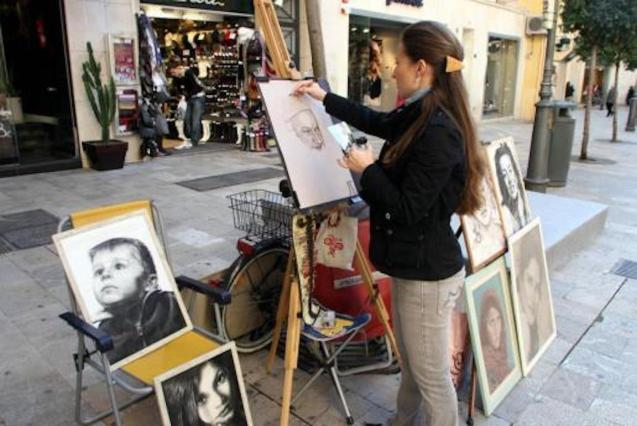 The largest number of street artists in Palma are in Calle Sant Miquel Street.