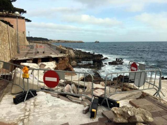 Storm Gloria damage in Cala Ratjada.