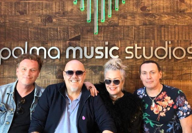 Ricky and Kim Wilde at the Palma Music Studios