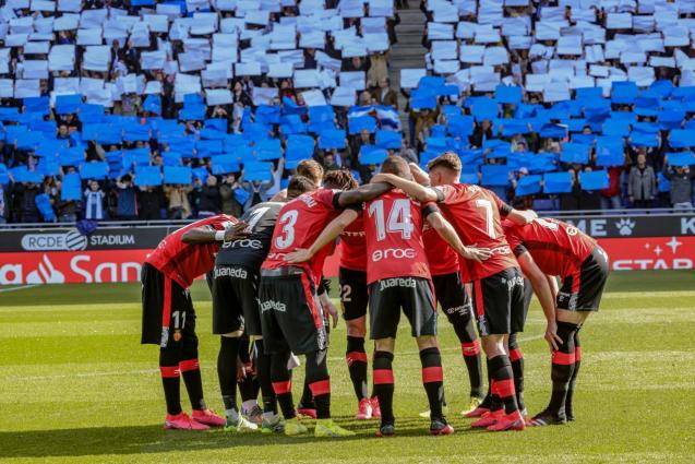 Real Mallorca players before a match