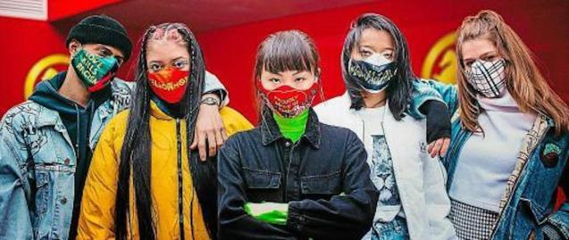 Masks designed by artists to fight racism and coronavirus.