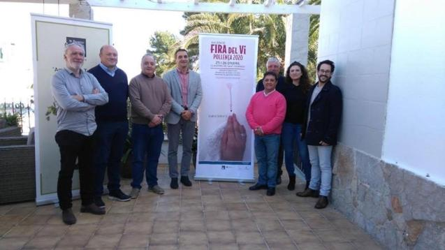 Presentation of the winning design for the poster for this year's wine fair in Pollensa.