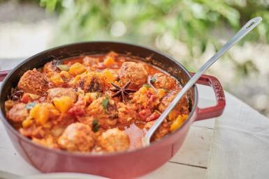 Iberian pork meatballs.