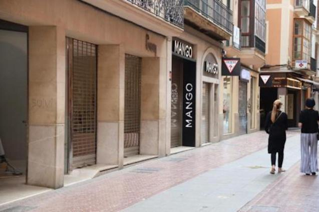 Shops closed in Palma.