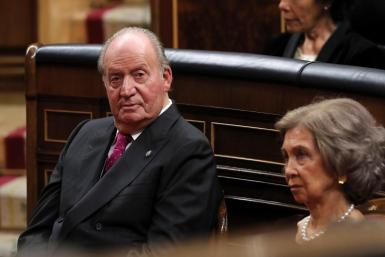 Archive photograph (06/12/2018), of former king Juan Carlos, with Queen Emeritus Sofia, in the Chamber of Deputies, during the 40th anniversary of the Constitution.