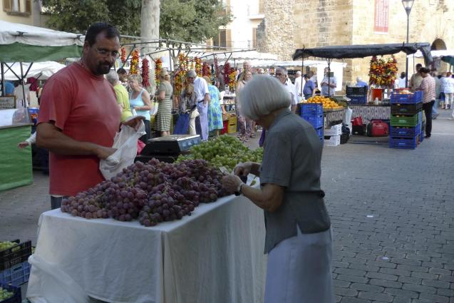 Alcudia market is still taking place....at the moment