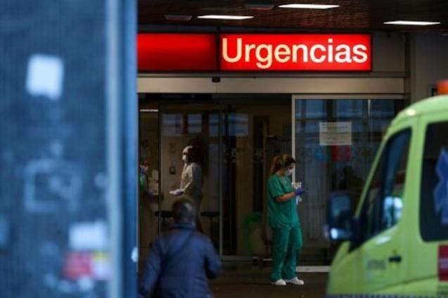 The entrance to Emergencies at La Paz Hospital in Madrid.