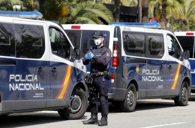 A National Police officer in Palma.