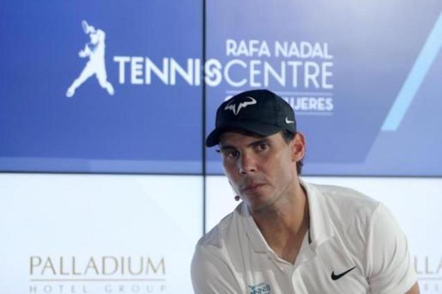 Rafael Nadal at the Rafa Nadal Tennis Centre.