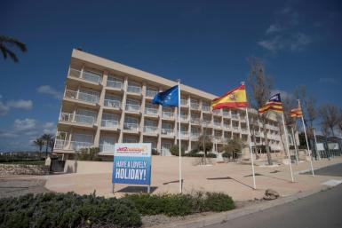 The Hotel Menorca Sur. Like all other hotels, it has had to close.
