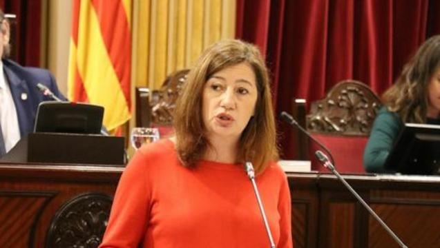 Francina Armengol, President of the Government of the Balearic Islands.