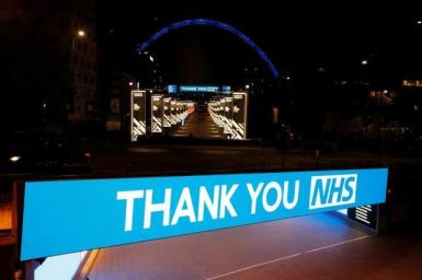 Tributes to Britain's National Health Service.