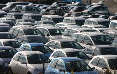 Car-hire fleets are off the road.