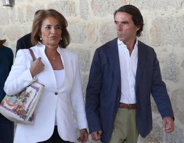 Former Spanish PM, José María Aznar & wife Ana Botella.