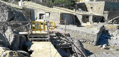 Cordoned off to prevent accidents in Sa Calobra.