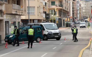 A police control in Palma.