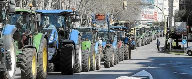 Not so long ago tractors were used for protests; now they are part of the sanitation operation.