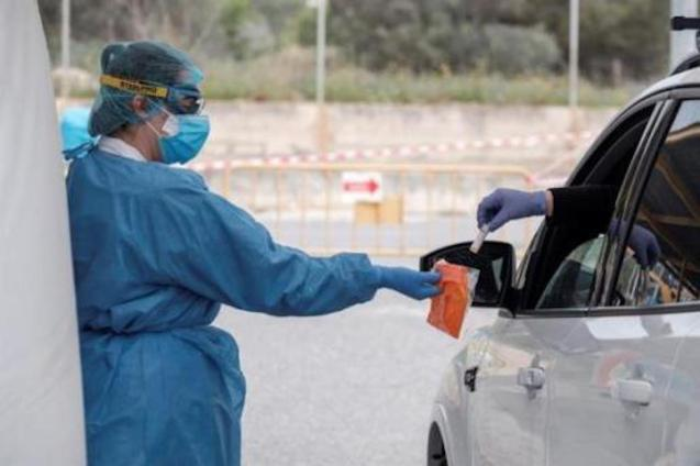 Sample collection in Ibiza to detect coronavirus.