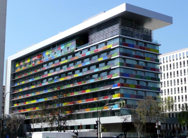 The National Statistics Institute, which is housed in a glassy-looking edifice on the Paseo de la Castellana in Madrid