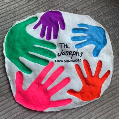 Handprints, you can make it today and paint it later.