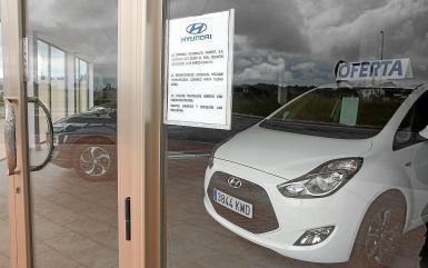 A slump in car sales.