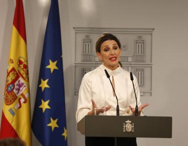 Yolanda Díaz, Spain's employment minister.