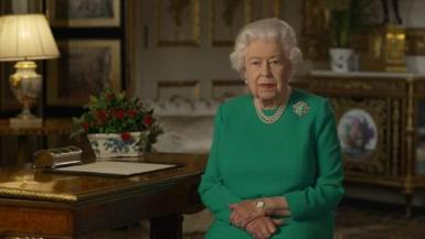 Queen Elizabeth, who spoke to the nation on Sunday.