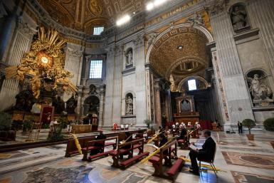 Pope Francis began the rites of Holy Week at St Peter's Basilica, Rome.