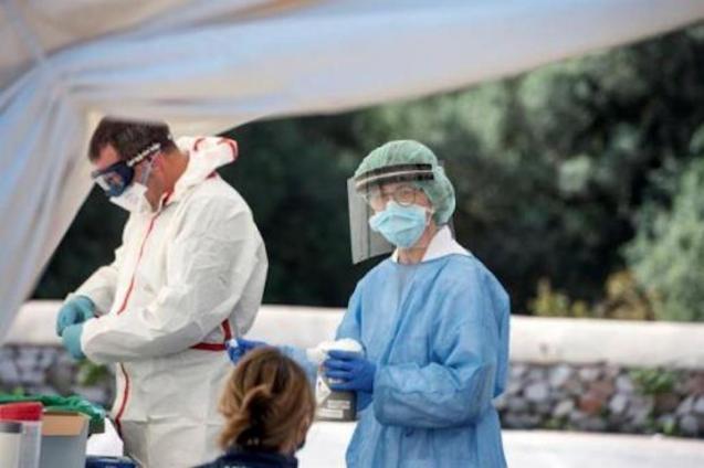 Covid-19 tests at Canal Salat Health Centre, Ciutadella