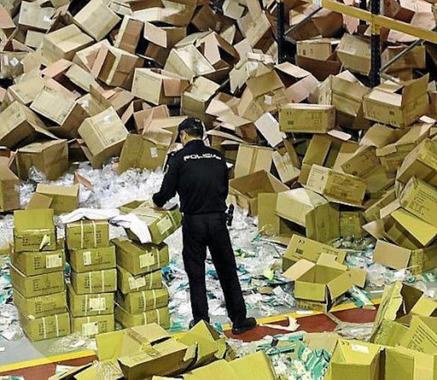 Medical equipment stolen from Majorcan company warehouse.