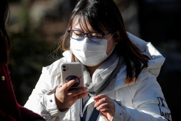 Many people are wearing masks when outside their homes