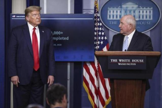 US President Donald Trump and Agriculture Secretary, Sonny Perdue.