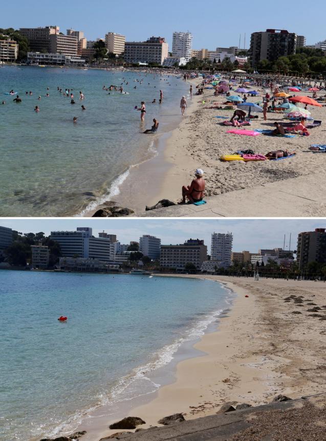 Son Matias beach in Magalluf