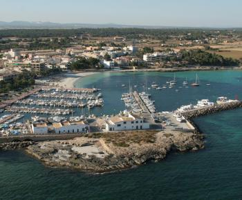 Birds-eye view of Majorca