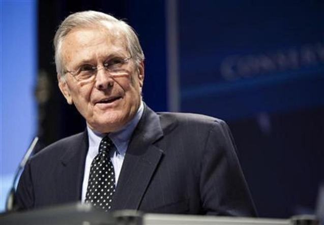 Donald Rumsfeld, former US defence secretary