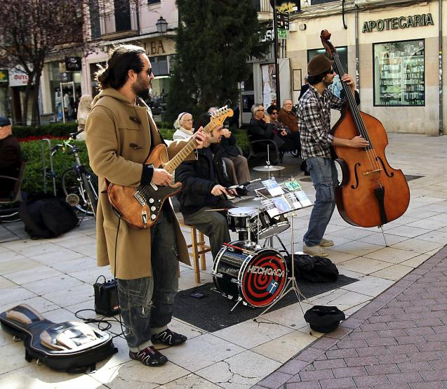 Musicians performing on the streets