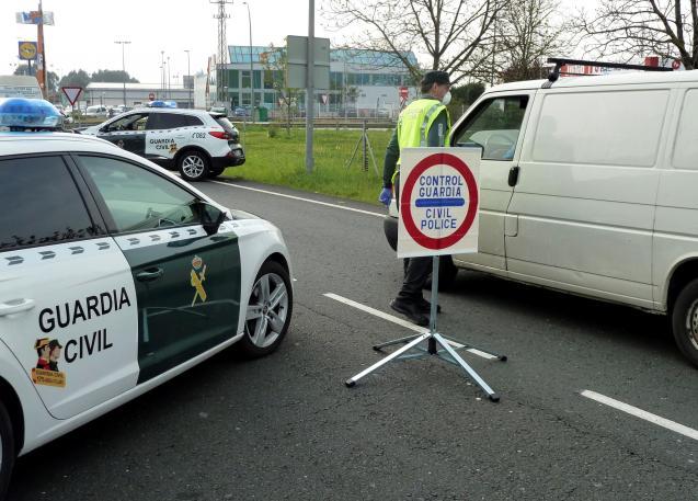 Guardia Civil road block.