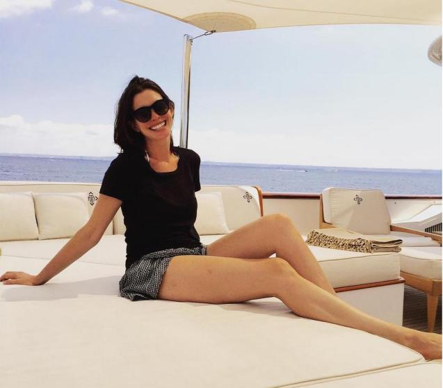 Anne Hathaway on holiday in Majorca.