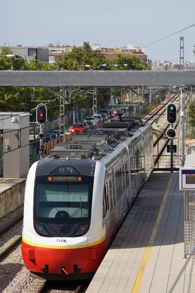 Public transport in Majorca.