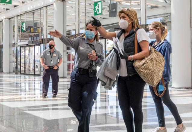 Palma airport during lockdown