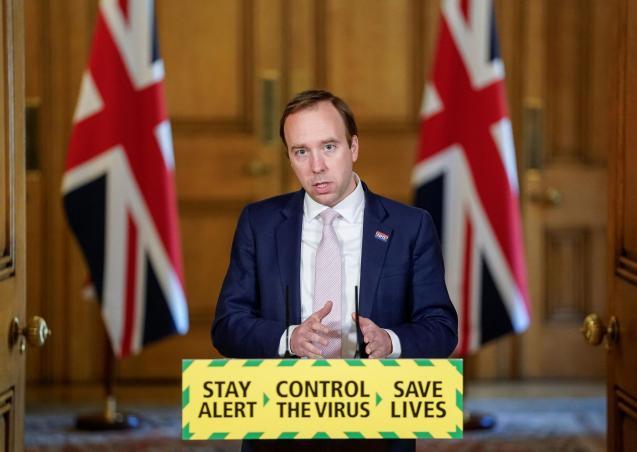 Britain's Secretary of State of Health Matt Hancock