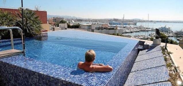 Rooftop pool in Palma.