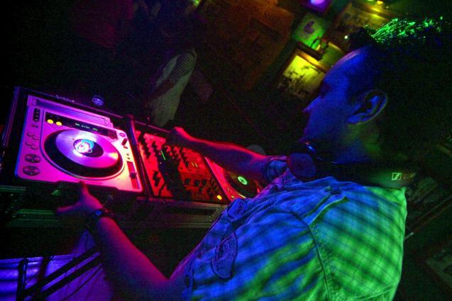 DJ working in a bar in Palma