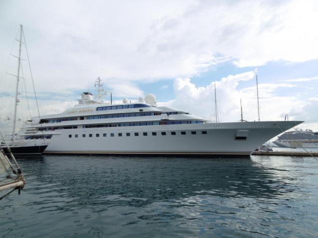 Lady Moura superyacht up for sale.