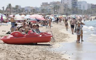 Residents of the Balearics and tourists can enjoy the beach.