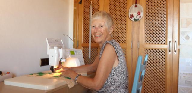 Sylvia at work