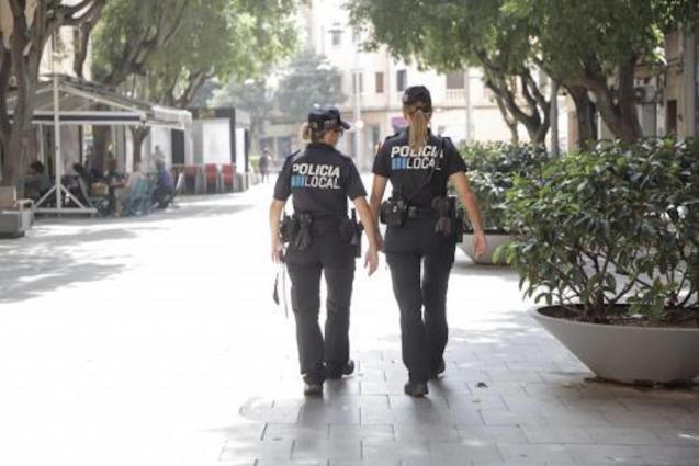 Police on patrol in Palma.